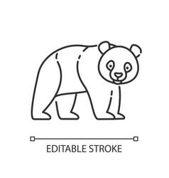 Panda bear pixel perfect linear icon vector