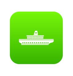 passenger ship icon digital green vector image