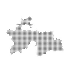 Pixel map of tajikistan dotted map of tajikistan vector