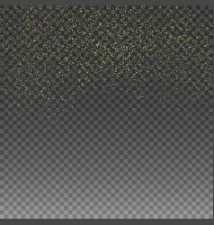 rain golden golden glitter confetti vector image