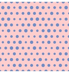 Random pattern big and small blue polka vector image
