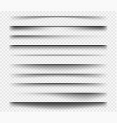 realistic shadows square dividers transparent vector image