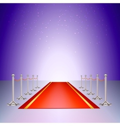 Red carpet entrance with the stanchions and the vector image