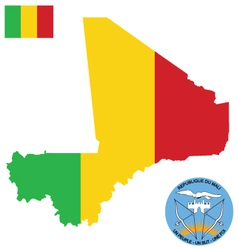 Republic of Mali Flag vector image