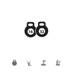 set of 5 editable training icons includes symbols vector image