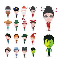 Set of figure avatars vector