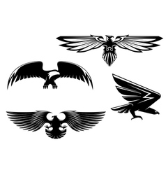 Set of heraldry eagles vector image vector image