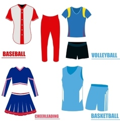 Set of sport uniforms vector