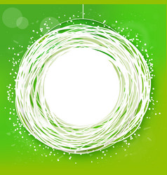 sketched sunny green abstract label vector image
