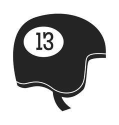 Snowboard sport clothes helmet element vector