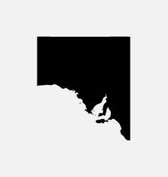 south australia map black silhouette vector image