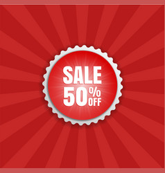 Special offer round sticker color banner vector