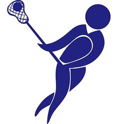 Sport icon design for lacrosse in blue vector