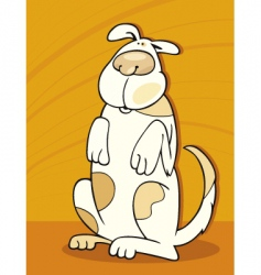 Spotted dog standing vector
