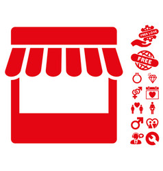 Store icon with dating bonus vector