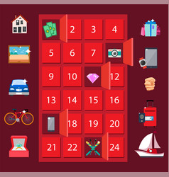strongbox and presents lottery vector image