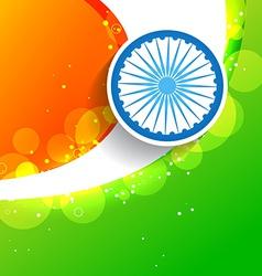 Stylish creative indian flag vector