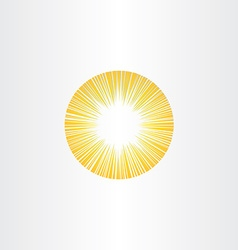 Sunshine rays sun icon solar energy vector