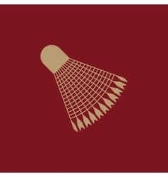 The badminton icon Shuttlecock symbol Flat vector