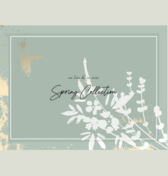 Trendy hand drawn background textures and floral vector
