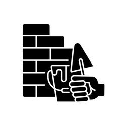 wall building black glyph icon vector image