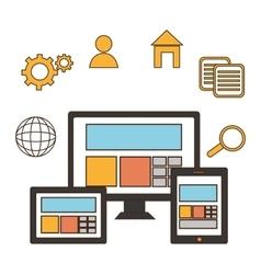 web development design vector image