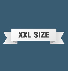 Xxl size ribbon xxl size paper band banner sign vector