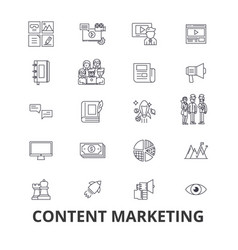 content marketing social media management vector image vector image