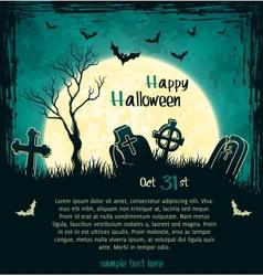Green grungy halloween background vector image vector image
