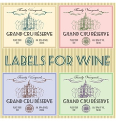labels for wine vector image vector image