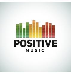 Reggae music equalizer logo emblem design vector image vector image