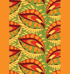seamless pattern doodling design vector image vector image