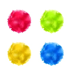 set abstract watercolor splash colorful paint vector image vector image