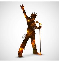 Singing Rock Star vector image vector image
