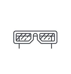 sun glasses thin line icon linear symbol vector image