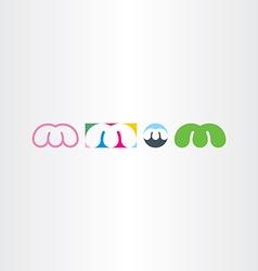 letter m logo design set icons vector image vector image