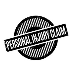 personal injury claim rubber stamp vector image vector image