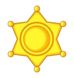 Sheriff star Icon Cap icon cartoon style vector image vector image