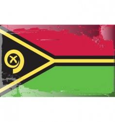 vanuatu national flag vector image