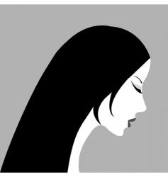 woman profile vector image