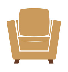 armchair icon isolated on vector image
