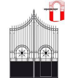 iron gate vector image