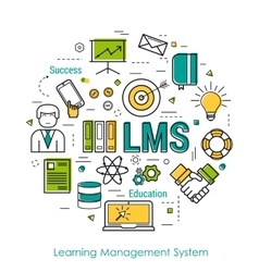 Line Art Concept of LMS vector image