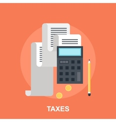 Tax Payment vector image