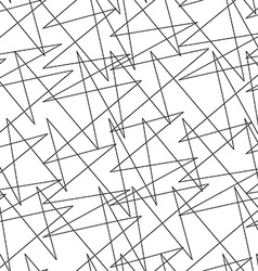 Black and white abstract lightning random lines vector image