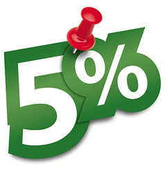 Five percent sticker vector image vector image