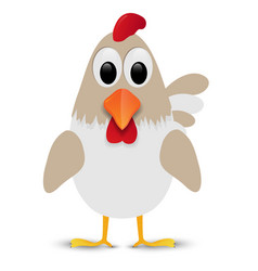 hen isolated on white background vector image