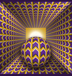 optical motion a sphere are moving vector image
