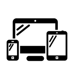 Phone computer and tablet vector image