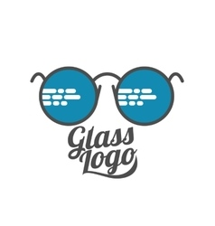 Retro and modern style glasses logo set vector image